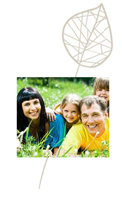 Family photo overlayed on the Counseling on Burnside logo